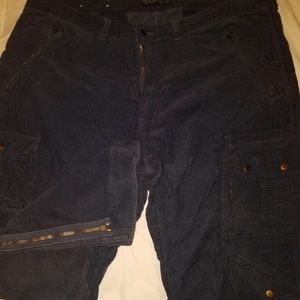 polo ralph lauren 42/30 mens corduroy cargo pants